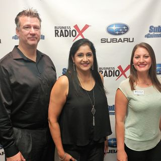Dr. Rebecca Sarlea with Refresh Chiropractic and Kevin Sirface and Dipa Janardanan with the Atlanta Water Store