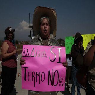 Campesinos se manifiestan contra termoeléctrica en Morelos