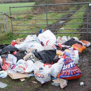 Is fly tipping a hell of a waste?