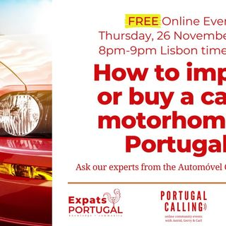 How to Import or Buy a Car or Motorhome Portugal with ACP