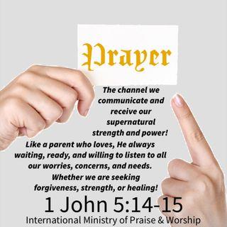He hears us when we pray