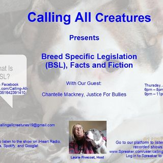 Breed Specific Legislation (BSL), Fact and Fiction with guest Chantelle Mackney