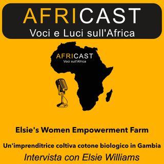 AfriCast - Elsie's Women Empowerment Farm - Un'imprenditrice coltiva cotone biologico in Gambia