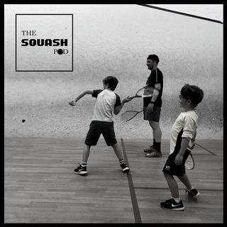 The Squash Pod interviews Gus aged 9 and Huck aged 5 - first time on court
