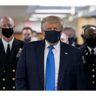 President Donald Trump puts on a mask for votes. But I think its to late for him