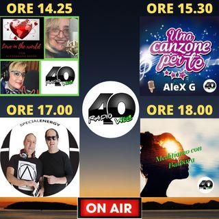 """Radio 40 """"Prima Time"""" Replica della puntata del 15/02/2021"""