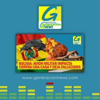 722: AVIÓN MILITAR IMPACTA CONTRA UNA CASA BOLIVIA