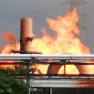 Incendio en complejo petroquímico en Veracruz