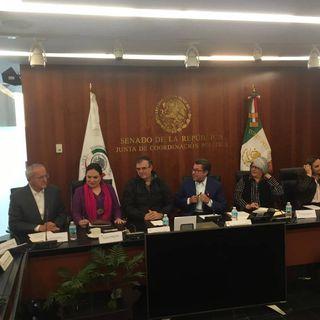 El canciller Ebrard inicia reunión con senadores