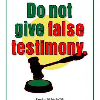 Don't Bear False Wistness