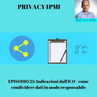 EPISODIO 25- Indicazioni da ICO- come condividere dati in modo responsabile