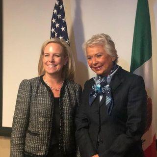 Nueva reunión de Olga Sánchez Cordero y Kirstjen Nielsen