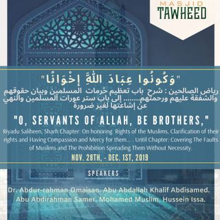 """O, Servants of Allah, Be Brothers,"""