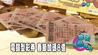 11:55 電腦型彩券 春節加碼8億 ( 2019-02-01 )