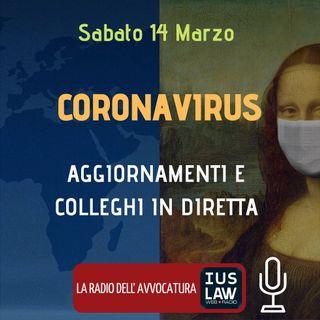 CORONAVIRUS: AGGIORNAMENTI E COLLEGHI IN DIRETTA – SPECIALE IUSLAW