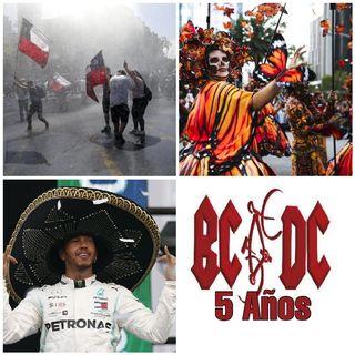 Protestas en Chile, Desfile Día de Muertos, 5° Aniversario BCDC, Gran Premio de México, Películas de Terror.