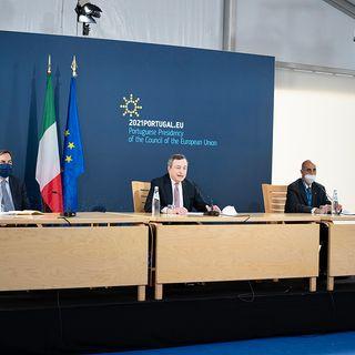 Porto Social Summit, punto stampa di Mario Draghi