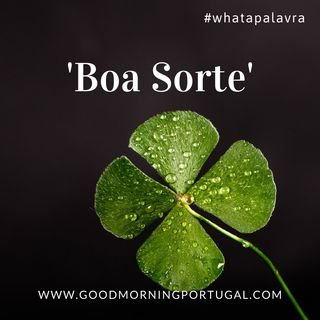 Good Morning Portugal! What a Palavra? 'Boa Sorte'