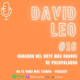 #16 David Leo – Ganador Pasapalabra, el bote más grande del programa