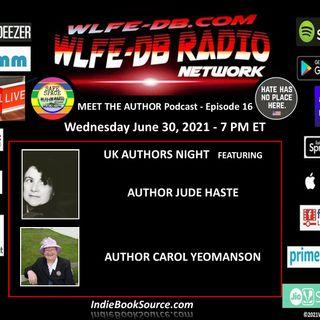 MEET THE AUTHOR Podcast - EPISODE 16 - JUDE HASTE & CAROL YEOMANSON