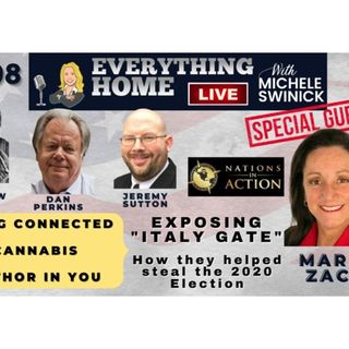 208 LIVE: Connection, Cannabis, Author In You +MARIA ZACK - ITALY ELECTION STEAL