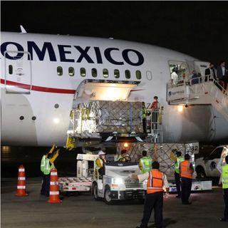 Un cuarto avión  llegará a México con insumos médicos desde China