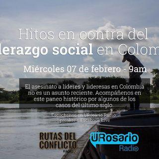 Hitos contra el liderazgo social en Colombia