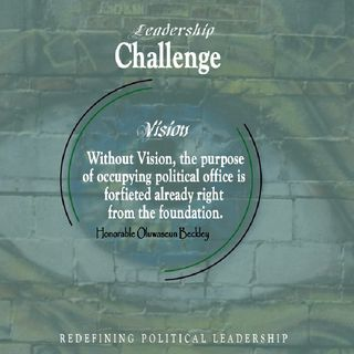 REDEFINING POLITICAL LEADERSHIP - VISION