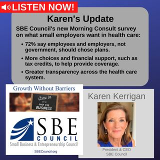 New SBE Council survey by Morning Consult on what small employers want in health care: choice, control, transparency, affordability.
