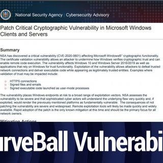 "Microsoft Issues Security Update to Fix ""Curveball"" Vulnerability 