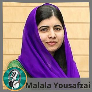 Adrián Moya con Malala Yousafzai