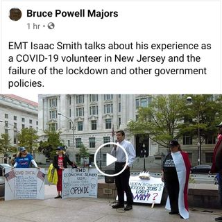 EMT Isaac Smith talks about his experience as a COVID-19 volunteer in New Jersey and the failure of the lockdown