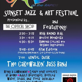 Suzanne Carrol with the Sunset Jazz & Art Festival