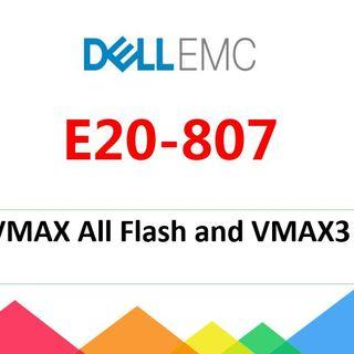 DELL EMC E20-807 exam dumps