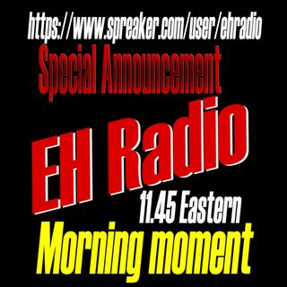 EHR 676 Morning moment SPECIAL virus in Canada Mar 16 2020