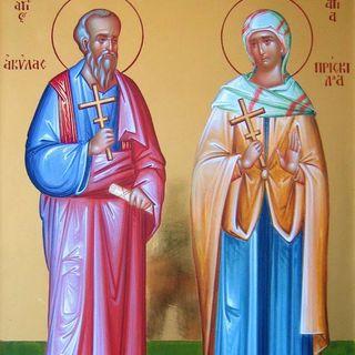 Santos Priscila y Aquila, esposos mártires
