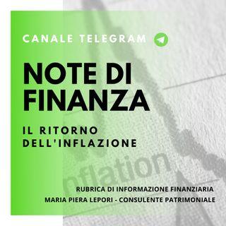 Note di Finanza | Il ritorno dell'inflazione