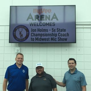 We talk to 5 time State Championship Coach Jon Holmes of Bishop Miege Football!!