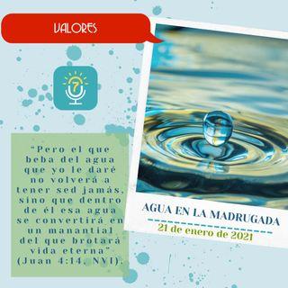 21 de enero - Agua en la madrugada - Etiquetas Para Reflexionar - Devocional de Jóvenes