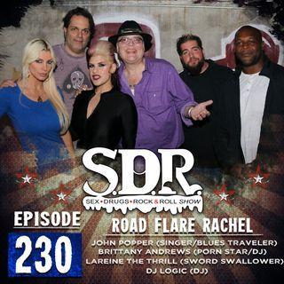 John Popper, Brittany Andrews, DJ Logic & LaReine The Thrill (Singer, Porn Star, DJ & Sword Swallower) - Road Flare Rachel