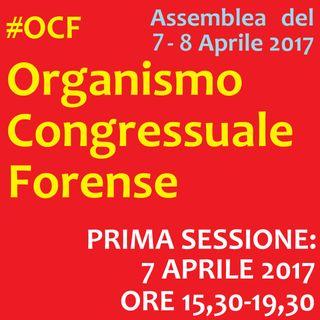 Assemblea #OCF Sessione VENERDI' 7 APR. - Organismo Congressuale Forense, 7-8 Aprile 2017