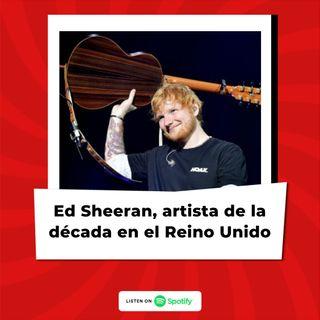 Ed Sheeran es nombrado artista de la década en el Reino Unido