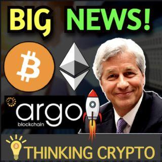 JPMorgan Crypto Jobs - Argo Blockchain 1,000 Bitcoin Mined - Bitcoin $40K Soon?
