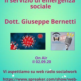 Giuseppe Bernetti. Il servizio  di emergenza sociale