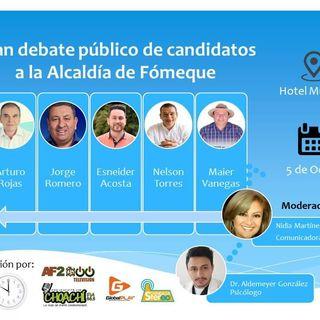 Debate con los candidatos por la Alcadía de Fómeque 2020-2023