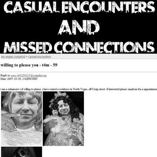 Casual Encounters and Missed Connections