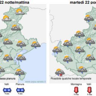 Meteo, torna lo stato di attenzione in Veneto: maltempo dalle prime ore di domani