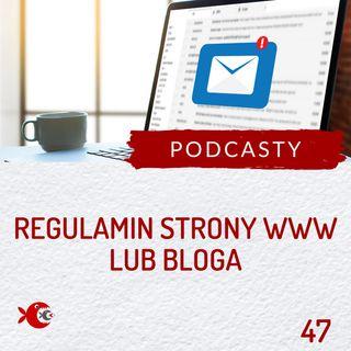47 Jak napisać regulamin newslettera lub sprzedaży produktów cyfrowych dla strony www / bloga?
