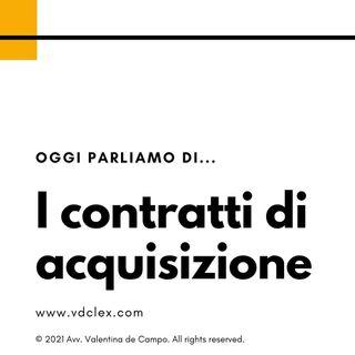 Introduzione ai contratti di acquisizione