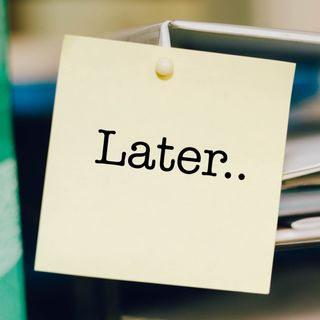 018- Stop Procrastinating